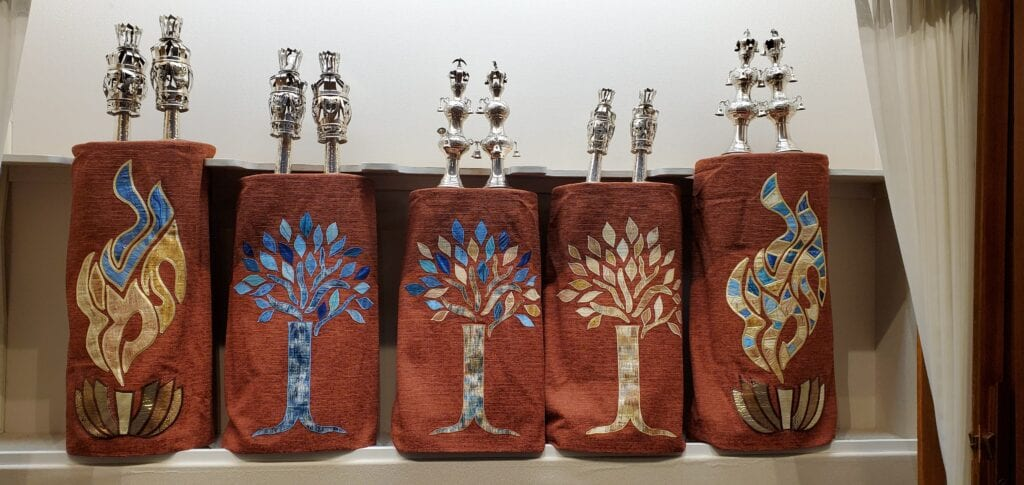 Our New Torah Covers